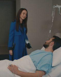kalp atisi mavi uzun ceket