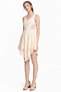 beyaz kisa dantel elbise
